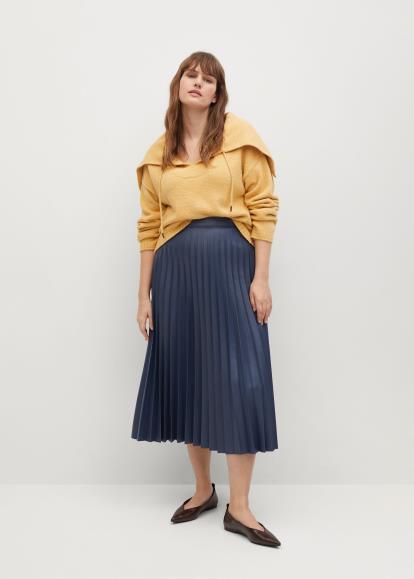 Multi Oasis Check Pleated Skirt