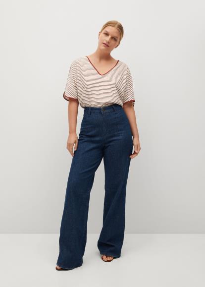 Blue Oasis Split Front Pencil Skirt