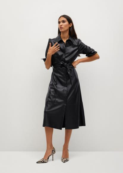 Black warehouse.co.uk Faux Fur Collar Biker