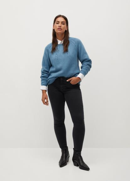 Blue warehouse.co.uk Block Stripe Jumper