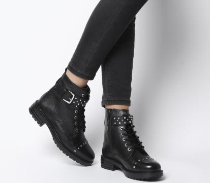 Black warehouse.co.uk Leather Saddle Loafer Shoes
