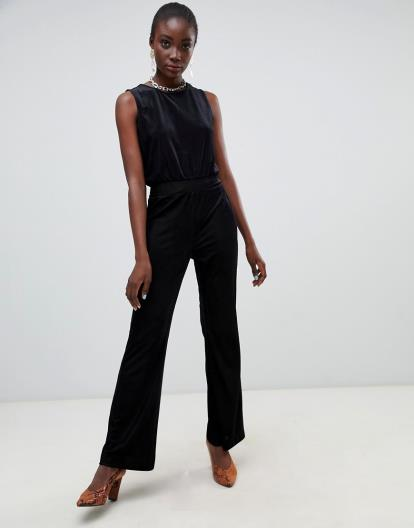Multi Miss Selfridge Black Floral Print Bandeau Jumpsuit