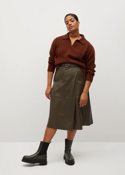 Blue Dorothy Perkins Sripe Pleat Maxi Skirt