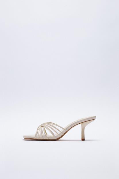 White gap.co.uk Midi Swing Skirt