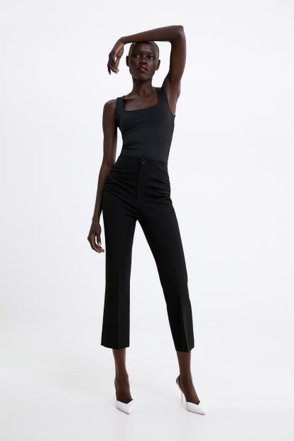 Black Uniqlo Women Airism Ankle Leggings