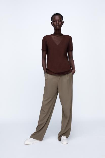 Brown uniqlo.com Women Heattech Sleeveless Top