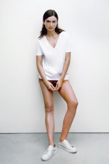 Blue uniqlo.com Women Heattech Sleeveless Top