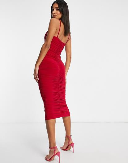 Red Zara High Neck Top