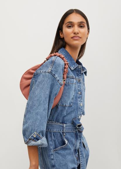 Red Asos Pull&Bear Short Sleeves Checked Shirt With Front Knot