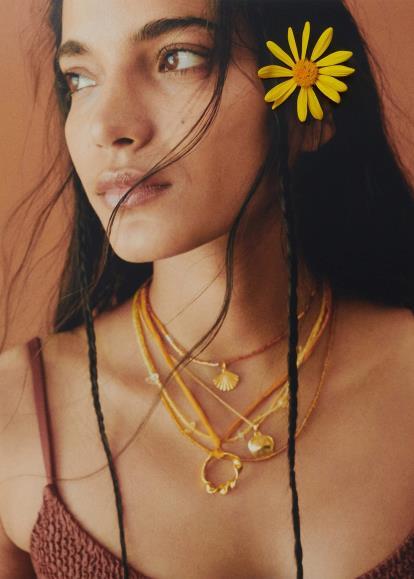Brown asos.com Bow Choker Leaf Bolo Necklace