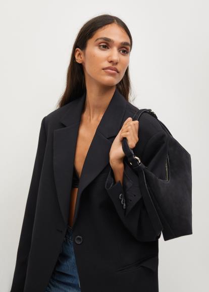 Black Asos Brush Jumpsuit With Wrap Detail