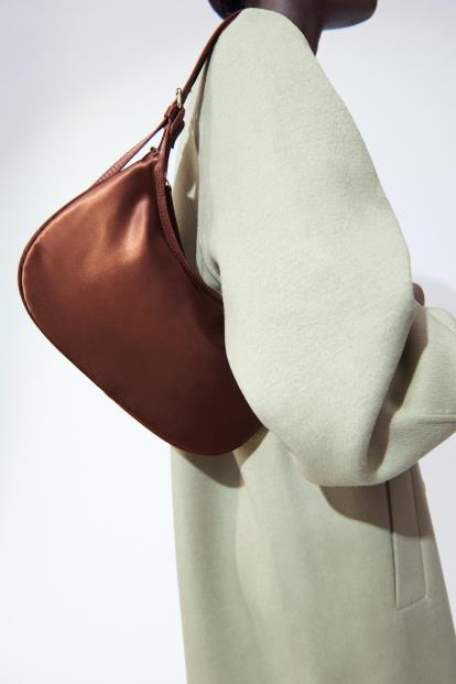 Grey Asos High Neck Knitted Rib Dress